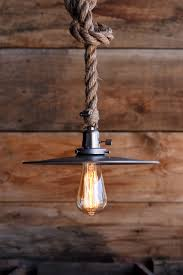 Vintage Clearance Lights The Bunker Rustic Lighting Rustic Lamps Rope Pendant Light