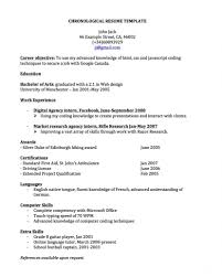 Example Of Chronological Resume Free Resume Example And Writing