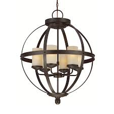 attractive iron orb chandelier for interior lighting decor charming 6 light bronze iron orb chandelier