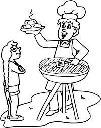 Small Picture summer coloring sheets of a bbq Seasons Coloring Pages