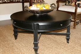 minimalist small black round coffee tables with drawers at living room cocktail table end table