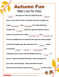 Mad Libs Printable for Fall | Parents | Scholastic.com