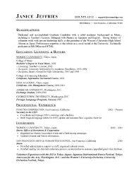Graduate School Resume Template Microsoft Word Graduate Resume Template High School Student Resume