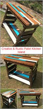 Image creative rustic furniture Mcallen Barnes Noble Creative Rustic Pallet Kitchen Island Wood Pallet Furniture