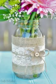 Decorating With Mason Jars And Burlap Mason Jar Centerpieces with Burlap Lace 9