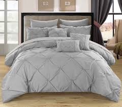 chic home king piece salvatore comforter set in silver