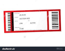 Blank Concert Ticket Template Mughals Nurul Amal