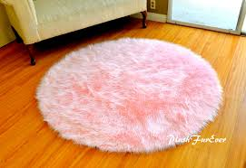 pink nursery rug baby pink luxury faux fur throw area rug for selecting the appropriate round