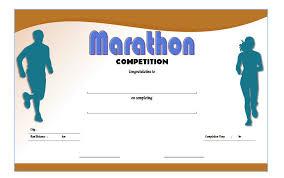 Fun Run Certificate Template Chicago Marathon Finisher Certificate Free Printable 2 One