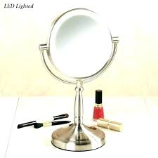 lighted makeup mirror led vanity cordless satin nickel expand natural daylight costco lighte natural daylight vanity mirror