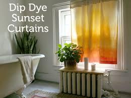 dip dye sunset curtains rit fabric dye clothing dyeing