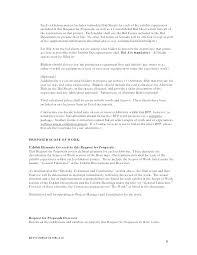 Response To Rfp Sample Sample Rfp Response
