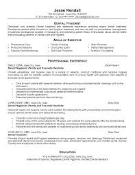 dental assistant resume professional experience dental hygienist