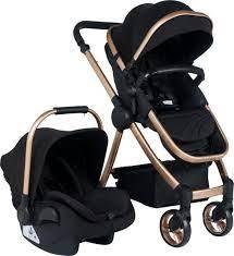 Tommybaby Toranto Gold Vip Travel Sistem Bebek Arabası + Puset SİYAH -  Tommy Baby