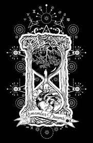 Vektor Strom A Srdce V Symbol Přesýpacích Hodin života A Smrti