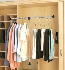 closet organizer hanger bar rev a shelf wide pull down closet rod chrome black the hardware
