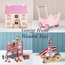 half term ideas new george home wooden toys collection at asda