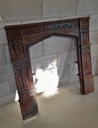 antique cast iron fireplace insert by asisrepurposeditems on