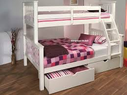 Signature Pavo White Wooden Double Bunk Bed ...