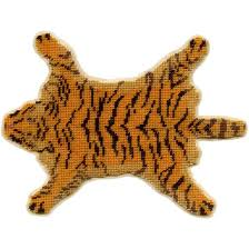 janet granger designs tiger skin dolls house needlepoint medium carpet kit