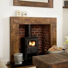Oak Fire Surround (grosvenor) Solid French Rustic Beam