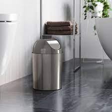 Mezzo Trash Can Shop Small Bathroom Office Trash Cans Umbra