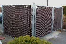 Delighful Chain Link Fence Slats Dark Brown To Help Inside Design