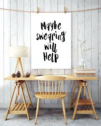 diy office wall decor. Pinterest Wall Decor Humorous Print Maybe Swearing Will Help Black And White Printable Swear Office . Diy