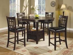 Tall Dining Room Chairs Counter Height Rustic Dining Room Set With Bench Wood Is Dark Oak