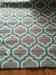 last minute teal and grey rug soft touch modern stripes zig zag flowers cream blue extra