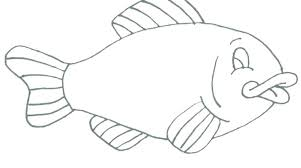 Fish Coloring Page For Kids Absolutely Smart Rainbow Fish Colouring