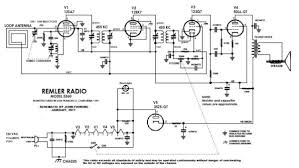 armstrong s superheterodyne radio a complete schematic diagram showing all the tubes and components of a typical superheterodyne radio from a 1946 remler radio