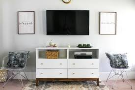 Diy living room furniture Homemade Diy Ikea Hack Tv Dresser The Spruce Ways To Make Your Own Tv Stand To Hide Ugly Cable Boxes And Wires