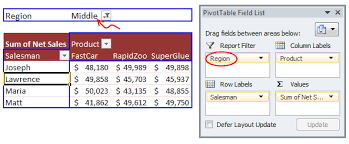 What Is Pivot Table What Are Pivot Table Report Filters And How To Use Them Chandoo