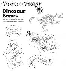Dinosaur Fossil Dinosaur Fossil Coloring Pages