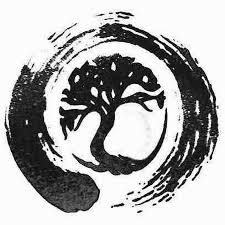Awesome Black Tree Ink Zen Circle Tattoo Stencil Chadwick Flickr