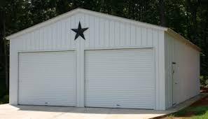 metal 2 car garage