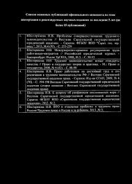 Сведения на официального оппонента по диссертации Ш евченко Ольги  Шестерякова И В Международно правовое регулирование труда работников мигрантов Российский