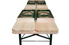 beer garden table. Beer Garden Furniture Black Iron Table Set Natural Wooden Folding Top Legs