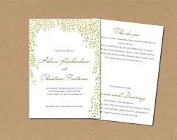 Word Printable Wedding Program Order Of Service Templates