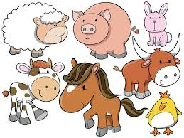 Small Picture Baby Farm Animals Cartoon Farm Animal Wall Sticker Set Throughout