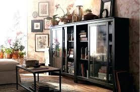 ikea glass door cabinet bookshelf glass door cabinet black brown shelves this traditional in solid wood