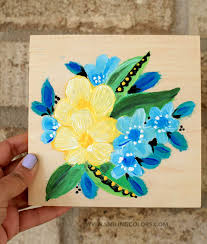painting acrylic flowers easy