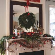 Christmas Decorations Design Gorgeous Fireplace Mantel Christmas Decoration Ideas family 73