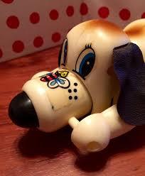 Vintage Wind Up Toy Dog | Etsy