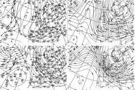 Isobar Chart Synoptic Weather Charts From A B 9 February 1999 And C D