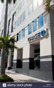 chase bank building in west palm beach florida stock image