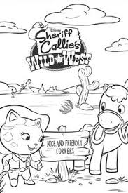 Small Picture Sheriff Callie Colouring Page 3 Disney Junior Singapore