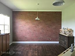 Stylish Brick Paneling In How To Faux Wall Sawdust 2 Stitches Decor 14