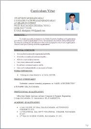 biodata word biodata format for job awesome for 1 year experienced word doc